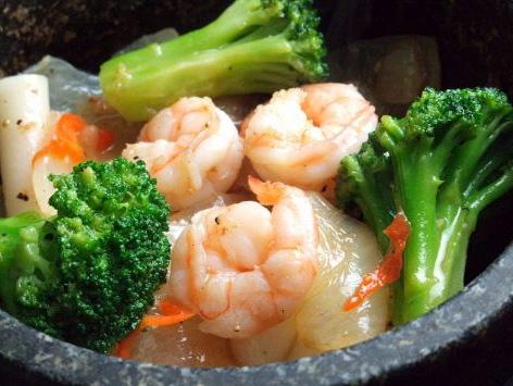 海老と野菜のぴり辛炒め