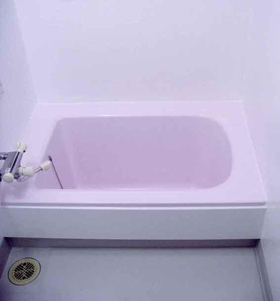 浴室のコーティング完了