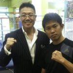 井岡一翔選手とリプロ社長