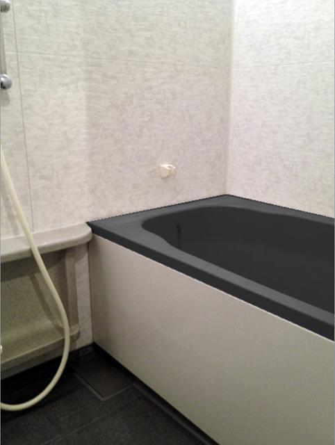 おしゃれに黒で浴槽をコーティング