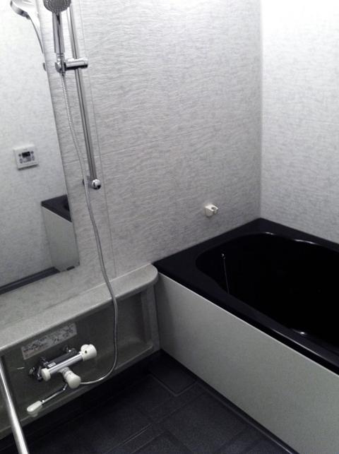 完成した浴槽コーティング