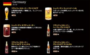 ドイツビールの数々