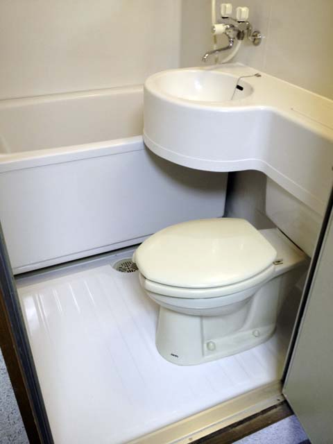 浴室コーティング後のユニットバス