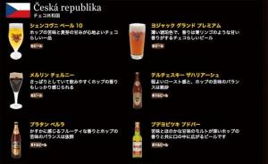 チェコビールの数々