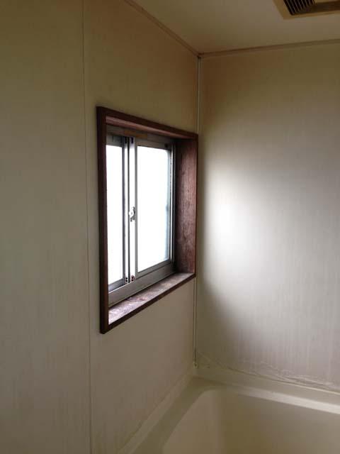 リフォーム前の窓枠