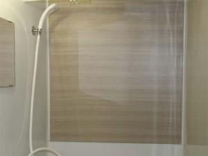 お風呂リフォームのアクセント壁