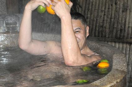 筆者入浴中