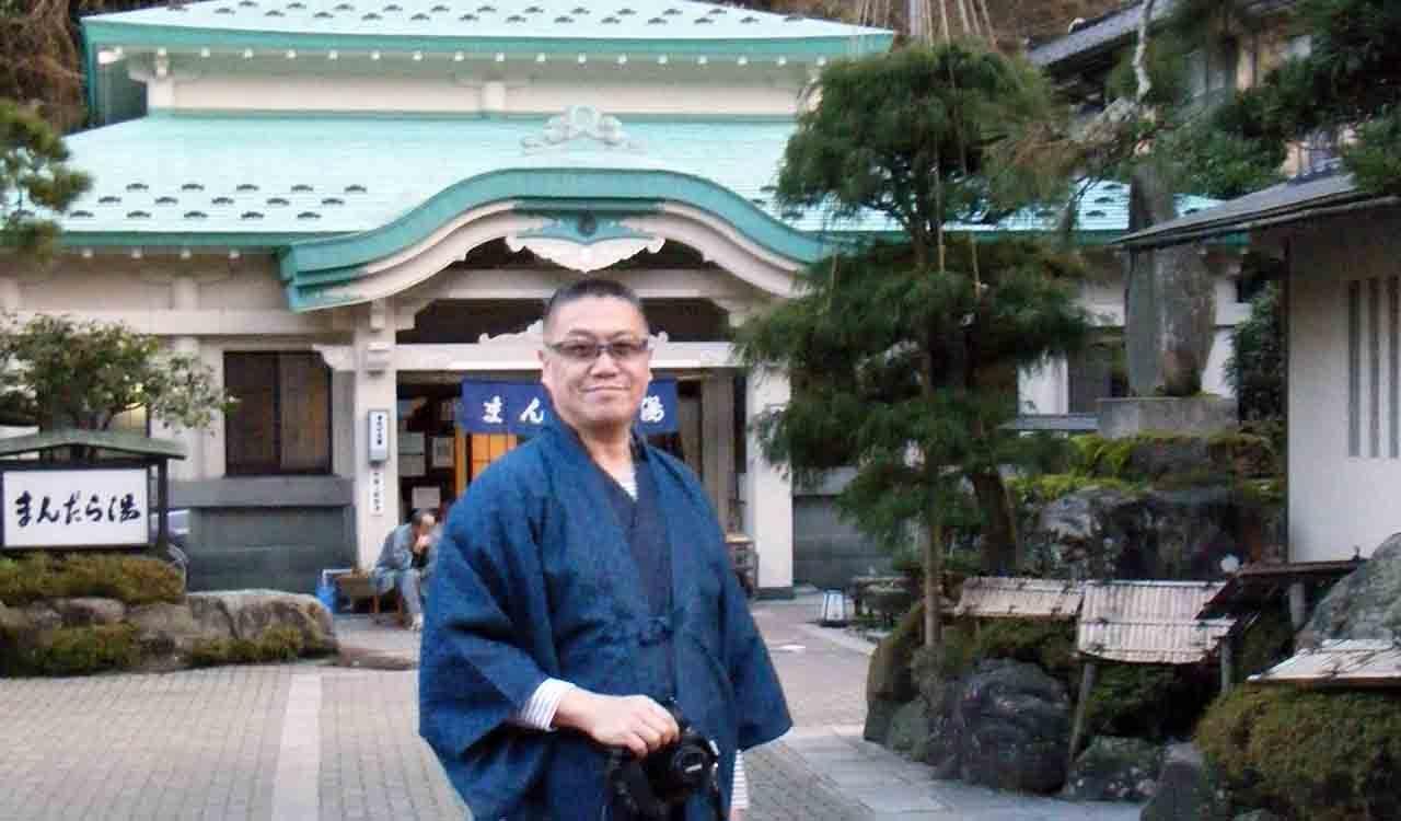 リプロ社長が休日に城崎温泉の外湯を楽しむ