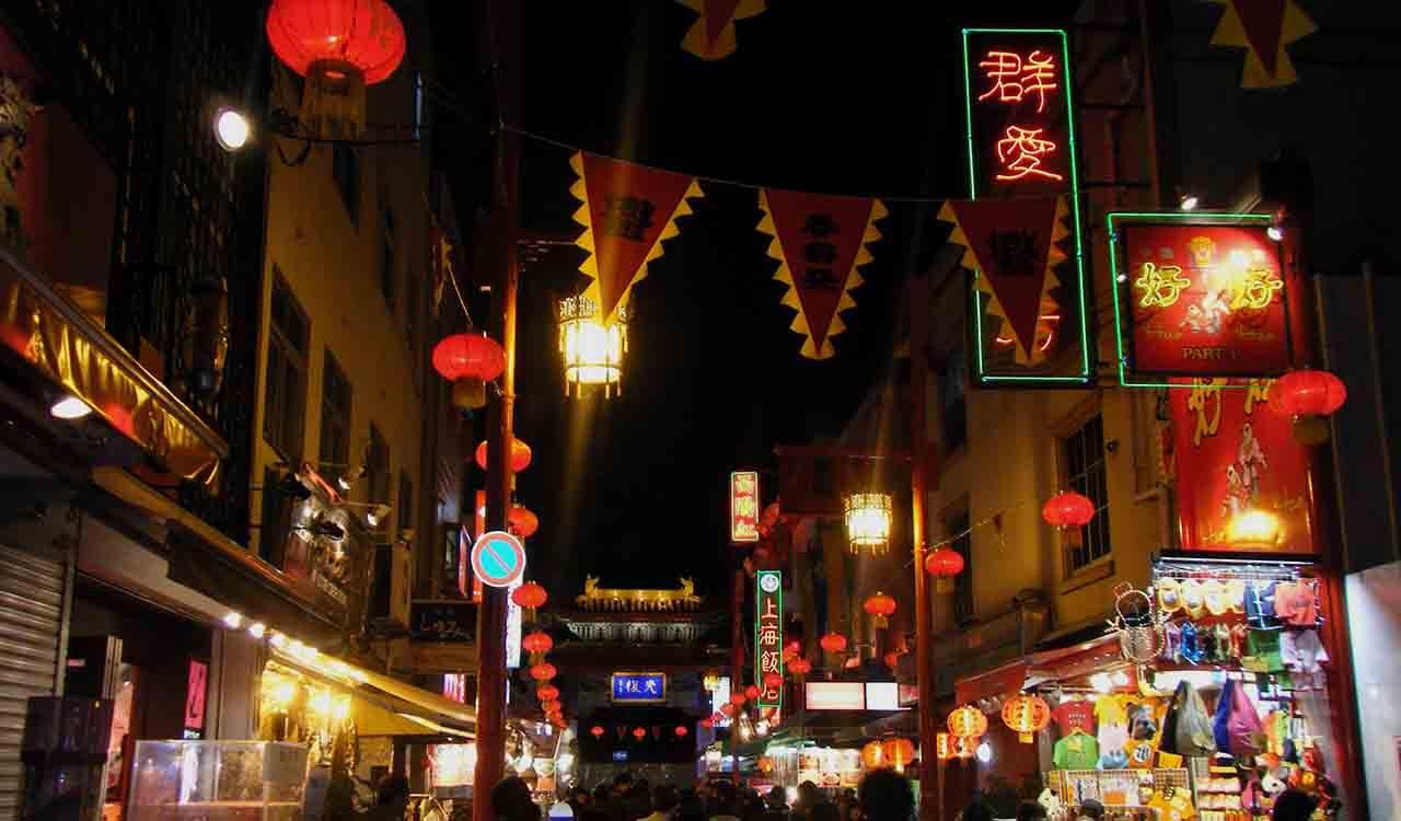 神戸中華街の夜景
