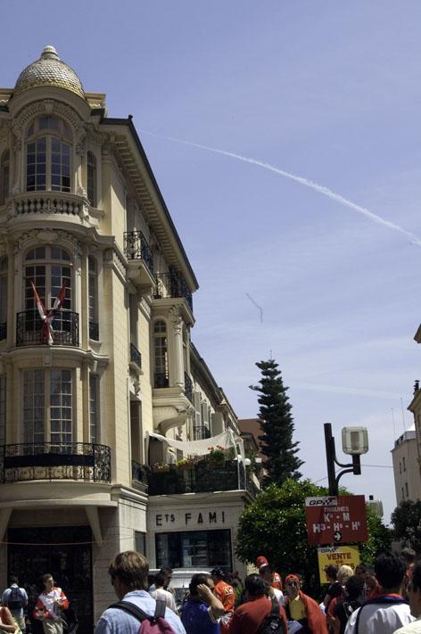 モナコの美しい町並み