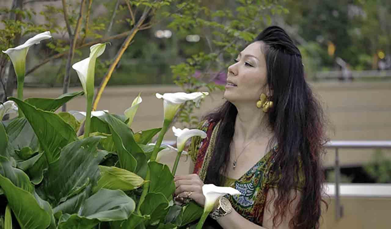 ナンバパークスでの撮影の女王