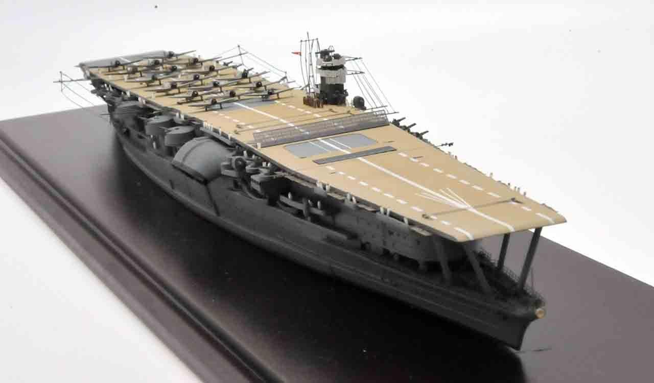 大日本帝国海軍航空母艦 赤城の1/700の完成品