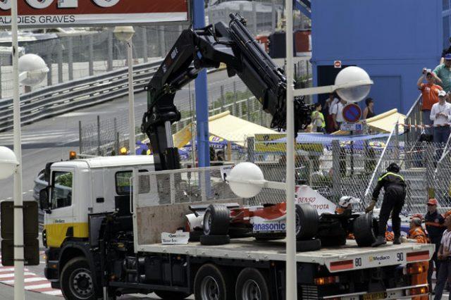 モナコGPでのラルフシューマッハの事故の後の処理