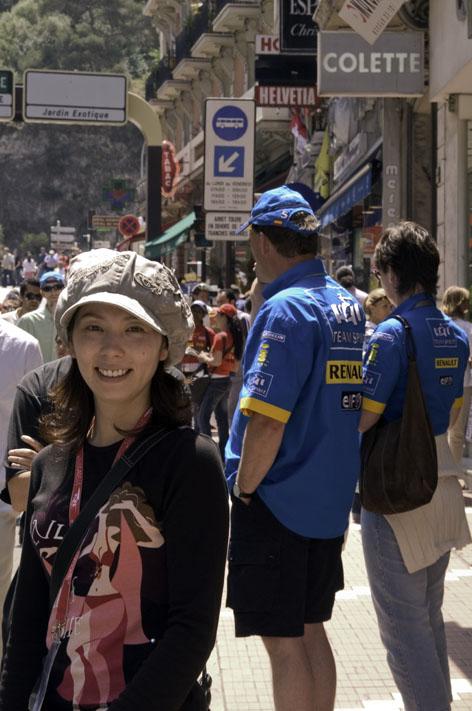 モナコ市街の混雑の様子です