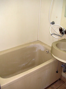浴室コーティング施工前の写真です