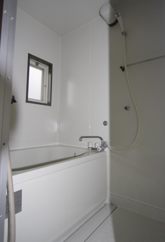 塗装後に浴槽のエプロンを装着した状態の完成写真
