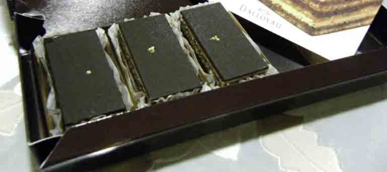 チョコケーキのオペラ