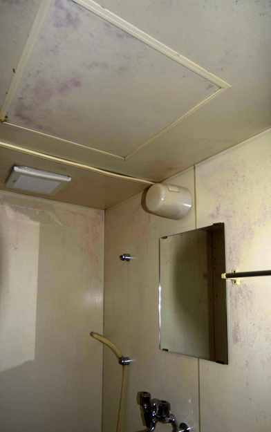ユニットバスの天井点検口染み