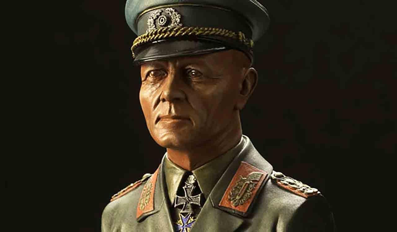 ロンメル将軍のバストモデル