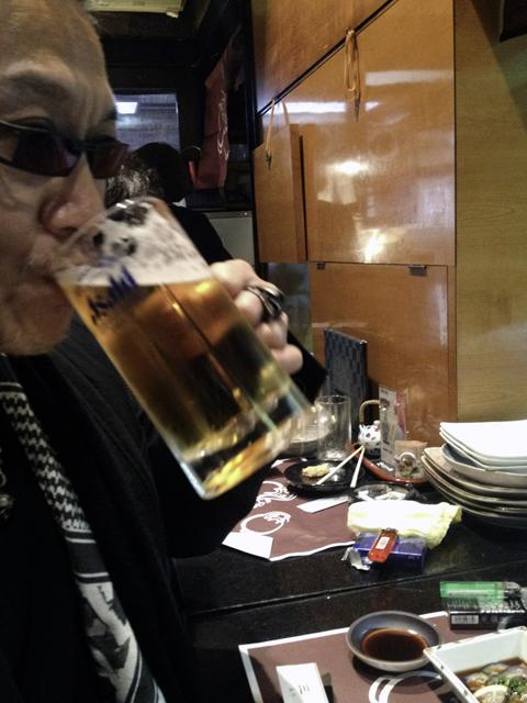 生ビールで満足のリプロ社長