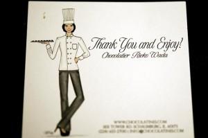 CHOCOLATINESのオーナーの和田さんのイラスト写真
