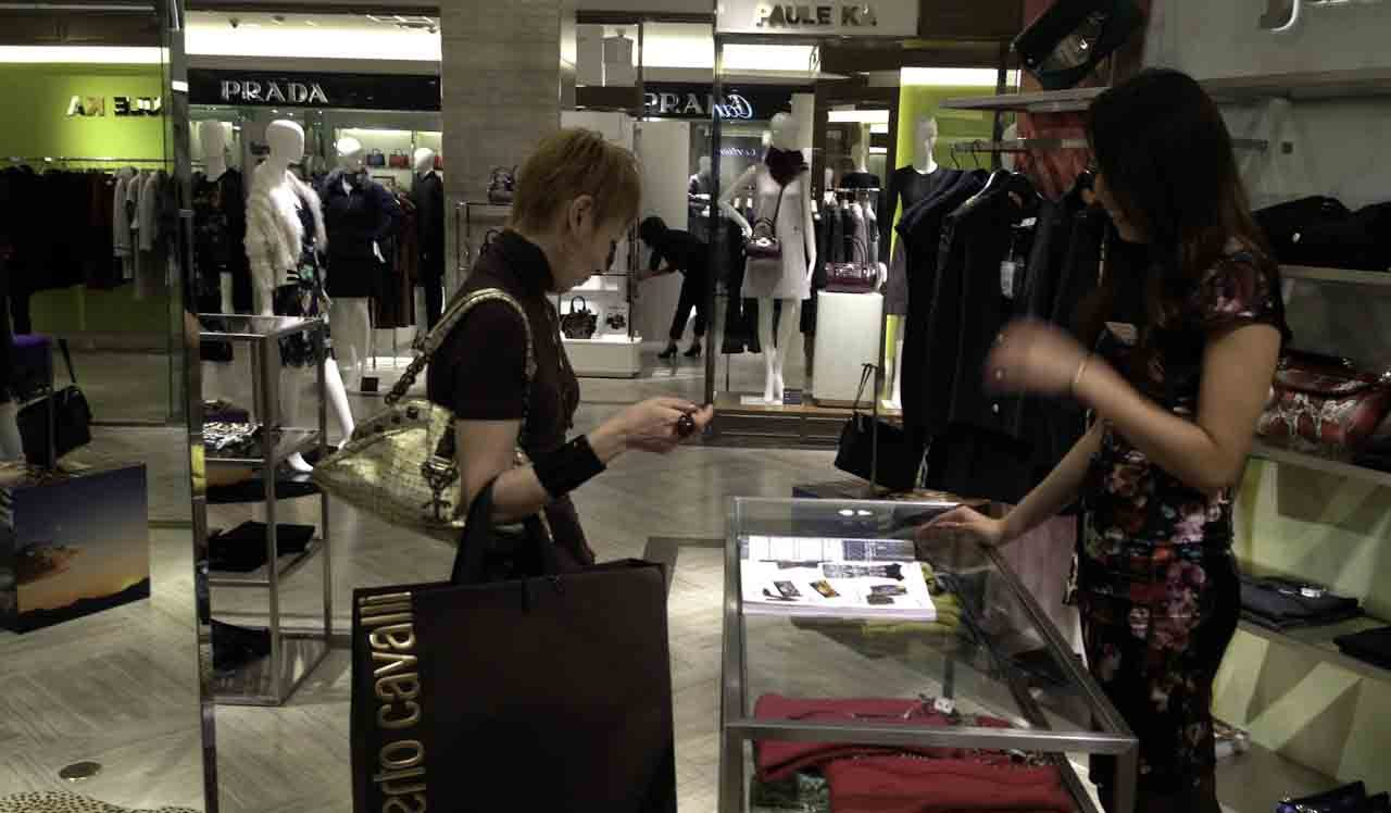 梅田阪急百貨店justcavalliのお店