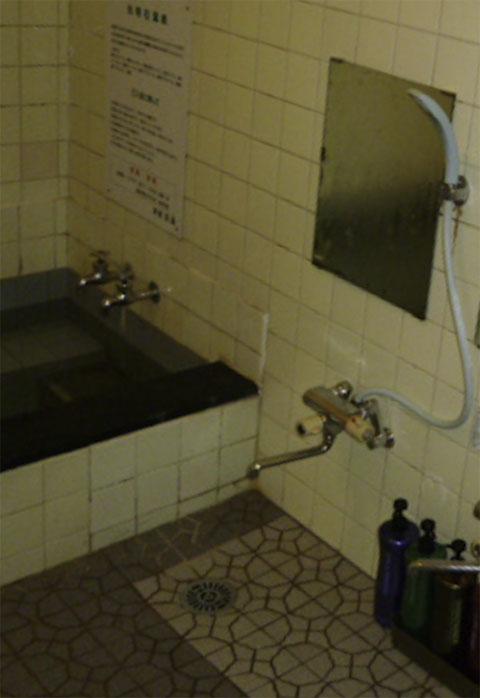 奈良の観光旅館の浴室リフォーム前のお風呂