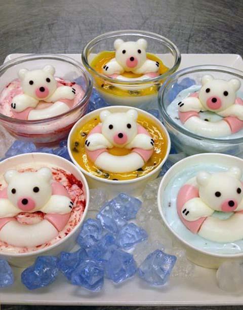 ミニくま三兄弟のアイスクリーム