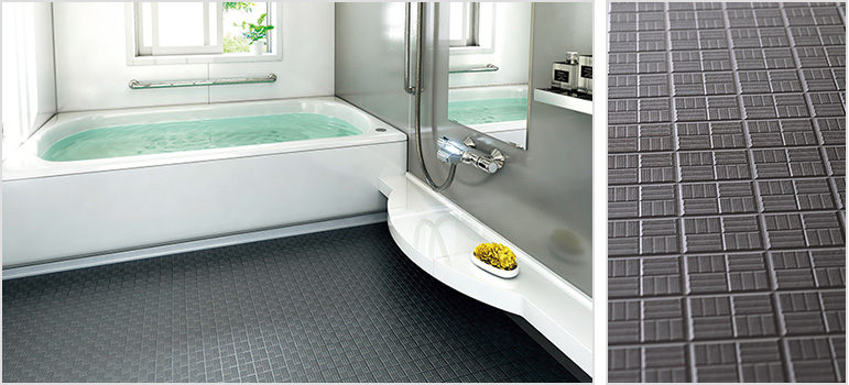 東リの浴室床材のバスナシリーズの施工写真