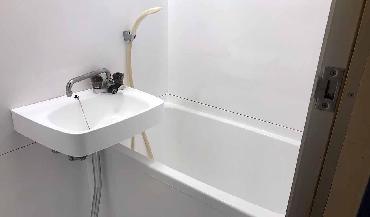 浴室再生塗装後のユニットバス