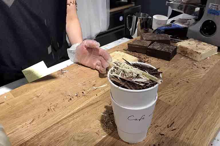 cafe no umedaのブロンコラテの写真