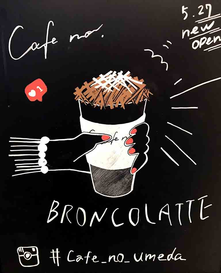 cafe no の店内の看板