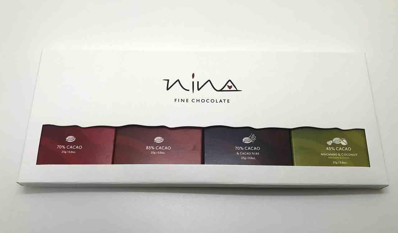 ペルー産カカオ使用のNINAの4種類のチョコレート