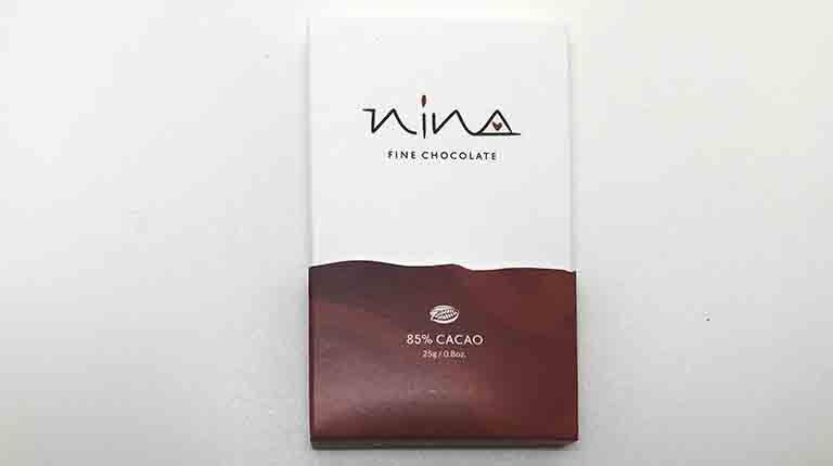 NINAの85%カカオのダークチョコレート