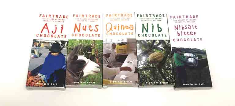 スローウォーターカフェのエクアドルサリネリートのチョコレート一覧