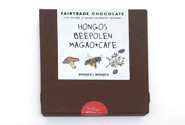 スローウォーターカフェの3種類の森の恵みアソートチョコレートのパッケージ